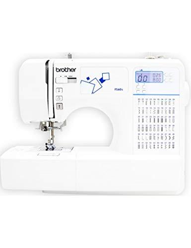 Brother FS60s Máquina de coser electrónica con 60 puntadas de costura (útiles, elásticas, decorativas), costura Automática, Display multifunción