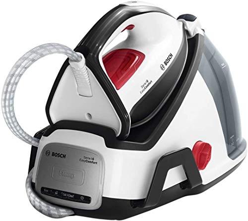 Bosch Serie | 6 EasyComfort TDS6040 - Centro de planchado, 2.400 W, 5.8 bares de presión, color blanco y negro