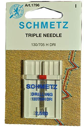 Schmetz - Aguja triple para máquina de coser