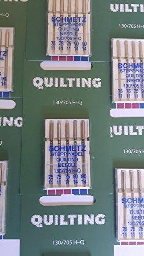 25 agujas para máquina de coser de SchMETZ: – Agujas acolchadas – Sistema de agujas 130/705 H-Q – Grosor 75 hasta 90
