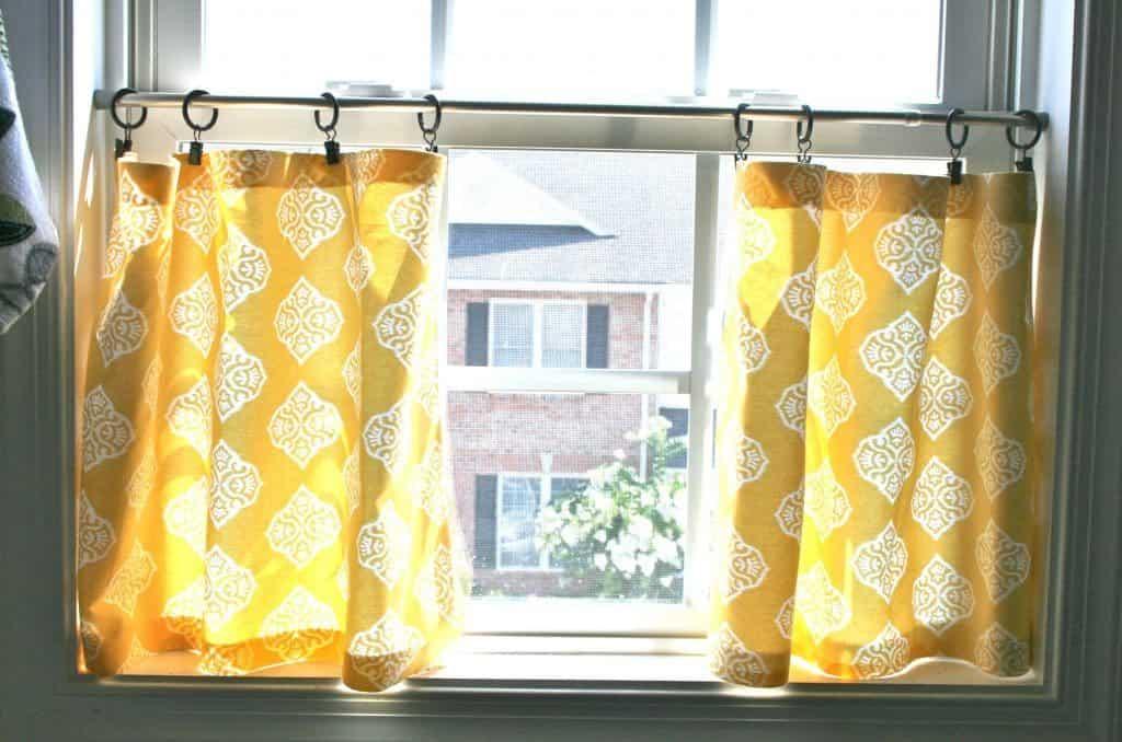 Hacer cortinas sin coser - Haciendo uso de anillos con clips