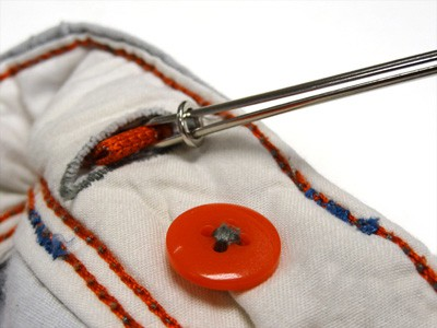Punzón para sacar el elástico de la cintura