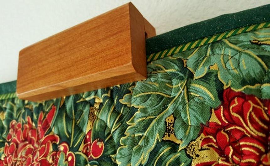 8 formas de colgar una colcha con y sin coser